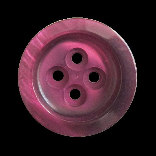 www.knopfparadies.de - 3031dl - Hübsch schimmernde Kunststoffknöpfe in dunkellila