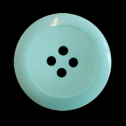www.knopfparadies.de - 0166hb - Hübsche hellblaue bis türkisfarbene Kunststoffknöpfe