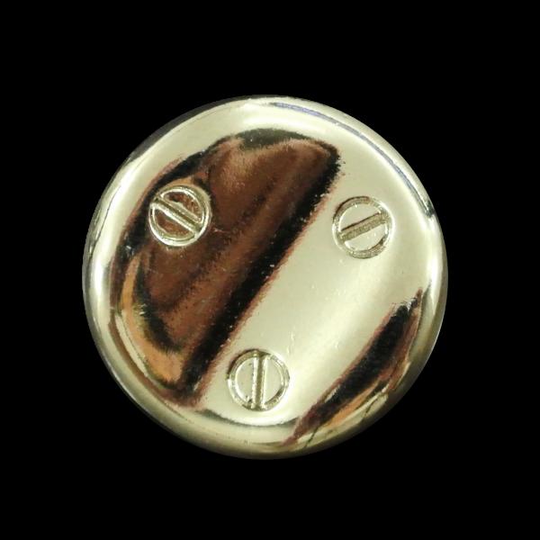 Ausgefallener silberfarbener Metallknopf Schrauben