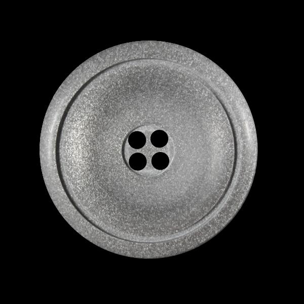 Edler taupefarbener Vierloch Knopf mit Glitzer Effekt
