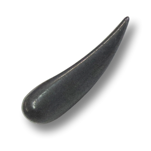 www.Knopfparadies.de - 0888ei - Große nierenförmige Metallknöpfe in Eisen als Knebelknöpfe