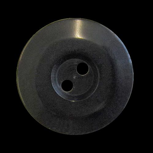 www.Knopfparadies.de - 5283sc - Elegante schwarze Zweilochknöpfe aus Kunststoff in Schwarz