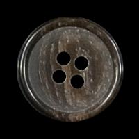 Schlichter brauner Vierlochknopf mit Marmorierung