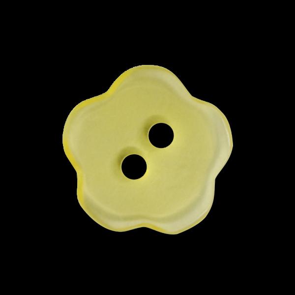 Süßer farbenfroher Zweiloch Knopf in Blumen Form