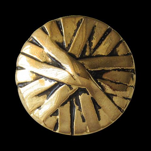 www.Knopfparadies.de - 0296ag - Interessante kegelförmige Metallknöpfe in Wickeloptik