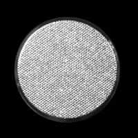 Flacher, wie diamantiert wirkender, Metall Ösen Knopf