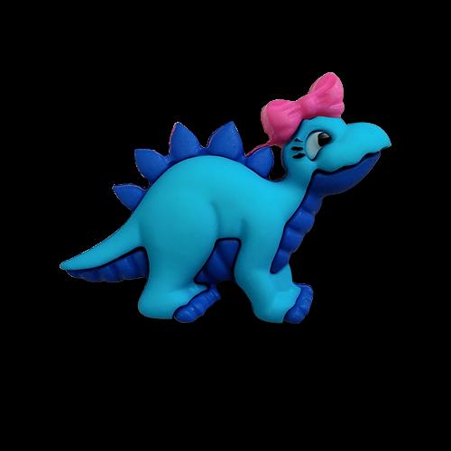 www.knopfparadies.de - 6174st - Zuckersüße kleine Kinderknöpfe: Dino / Stegoosaurier