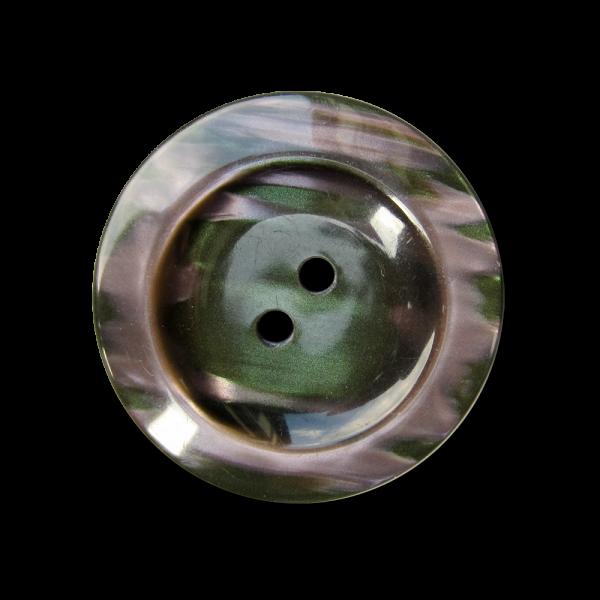 Wunderschöner lila grüner Knopf mit Perlmutt Schimmer
