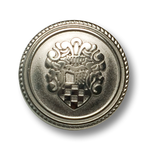 Klassischer Blazerknopf mit Wappenmotiv