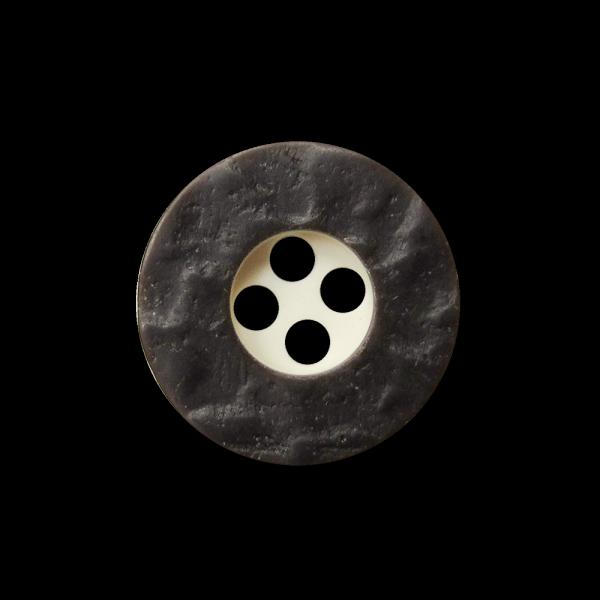 Zünftiger kleiner Vierloch Knopf in Horn Optik
