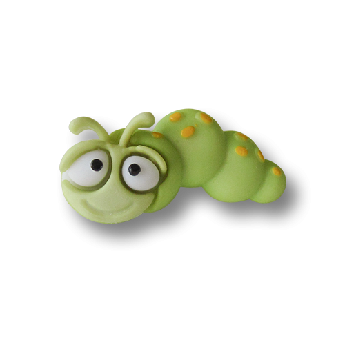 www.knopfparadies.de - 1513ra - Zuckersüsse Kinderknöpfe: kleine Raupe