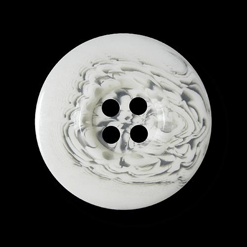 Weiß transparenter wild gemusterter Vierloch Knopf