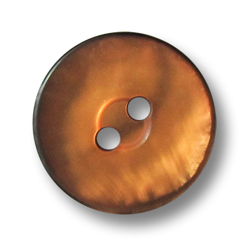 www.knopfparadies.de - 5622os - Kunststoffknöpfe mit zwei Löchern in orange-braun-schwarz