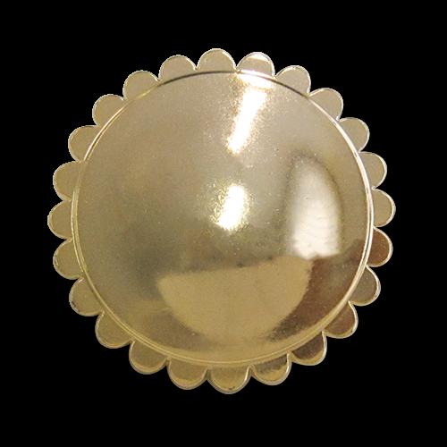 www.knopfparadies.de - 3194gg - Glänzend goldfarbene Kunststoffknöpfe