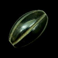 Schwarz braune große Perle aus Büffelhorn