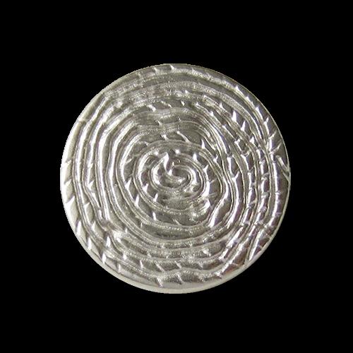 www.Knopfparadies.de - 2679si - Kreative silberne Metallknöpfe wie Spirale
