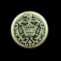 Schöne Wappenknöpfe mit Krone