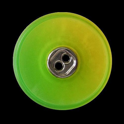 www.knopfparadies.de - 3820gr - Kunststoffknöpfe mit zwei Löchern, knallig grün schimmernd