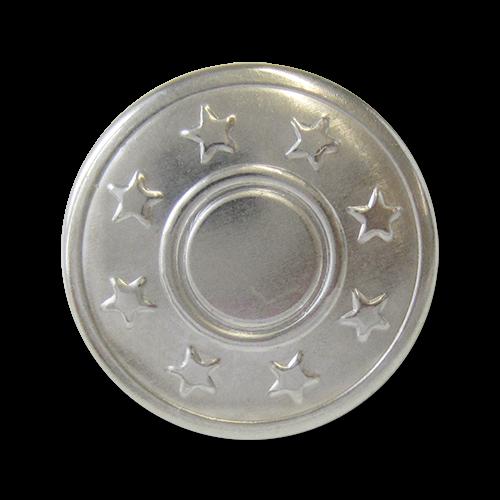 www.knopfparadies.de - 4223si - Silberfarbene Jeansknöpfe od. Nietenknöpfe