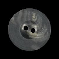 Braunmarmorierter Knopf in Büfelhorn-Optik