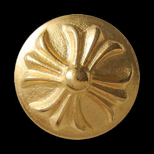 www.Knopfparadies.de - 0298go - Goldene Metallknöpfe mit Kreuz Motiv