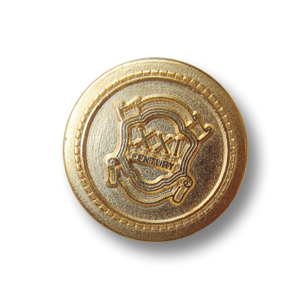 Klassischer goldfb. Blazerknopf mit Wappen