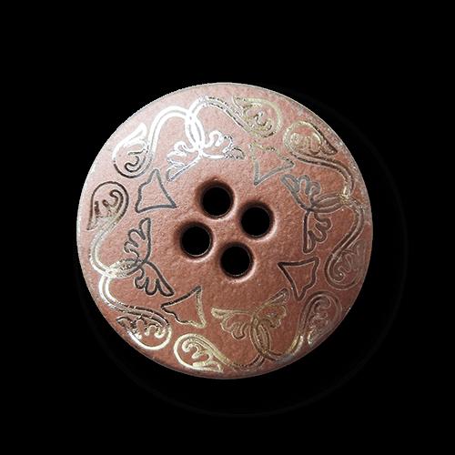 Kleiner Metallknopf mit filigranem Jugenstil Muster