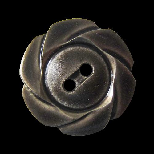 Verspielter braun-grau-metallic-farbener Knopf