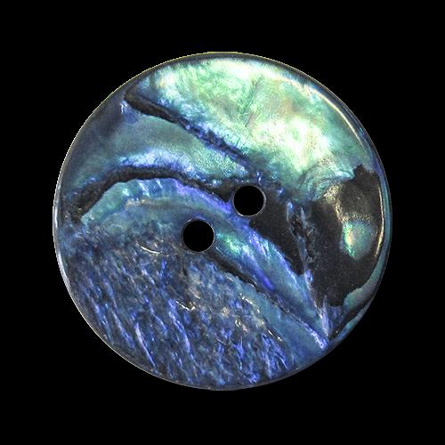 www.Knopfparadies.de - 3472bu - Echte Perlmuttknöpfe in schillerndem Blau