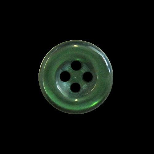 www.knopfparadies.de - 1368gr - Dunkelgrüne Blusenknöpfe aus Kunststoff