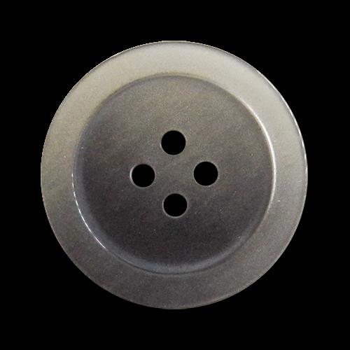 www.knopfparadies.de - 2230gr - Grau schimmernde Kunststoffknöpfe mit vier Löchern